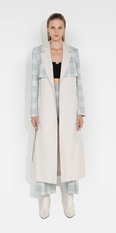 S21 Campaign | Melange Check Maxi Trench