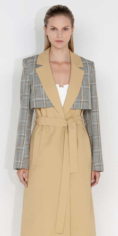 S21 Campaign  | Tweed Check Maxi Trench
