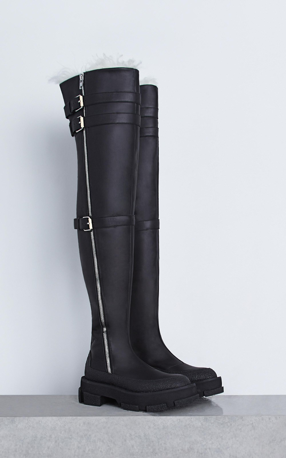 Unisex  | GAO THIGH HIGH UNISEX BOOT w SHEARLING