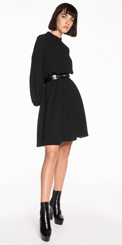 Dresses | Georgette Blouson Sleeve Dress