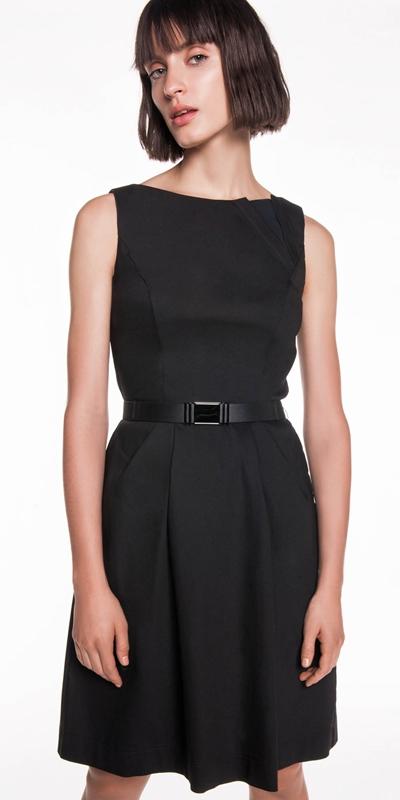 Sale  | Spliced Neckline Cotton Dress