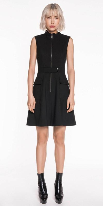 Wear to Work  | Zip Front Funnel Neck Dress