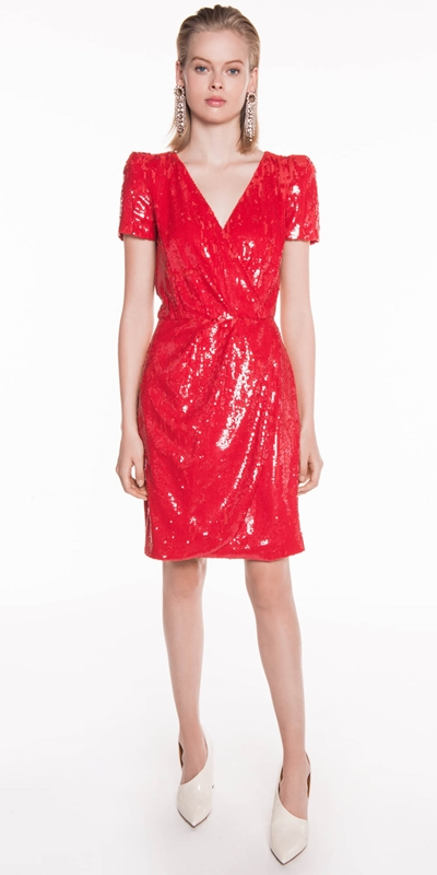 The Party Edit  | Red Sequin Dress
