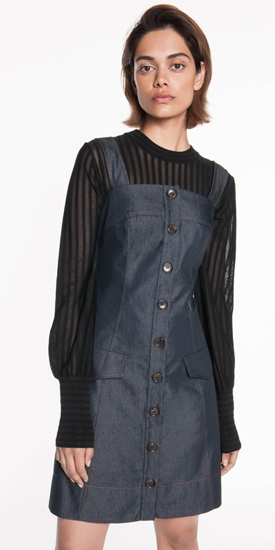Sale  | Denim Button Front Dress