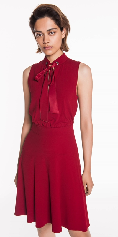 Sale  | Deep Red Crepe Dress