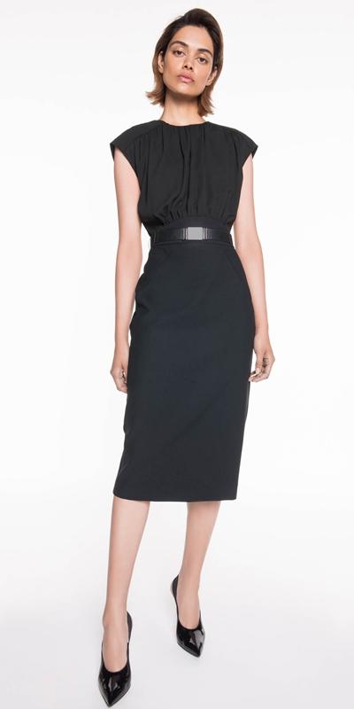 Sale | Gathered Blouson Pencil Dress