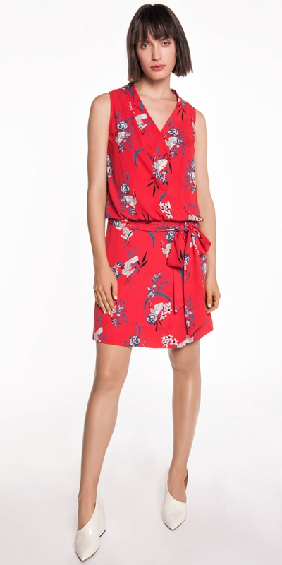 Made in Australia | Crane Floral Drop Waist Dress