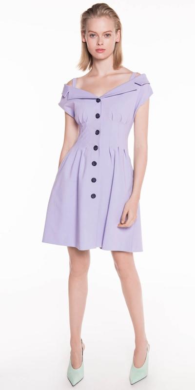 Sale | Lavender Waist Tuck Dress