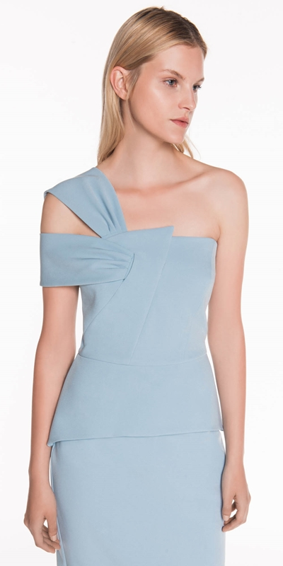 The Party Edit  | Asymmetric Draped Shoulder Dress