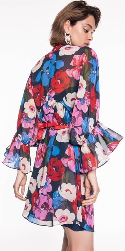 Dresses | Bright Poppy Georgette Dress