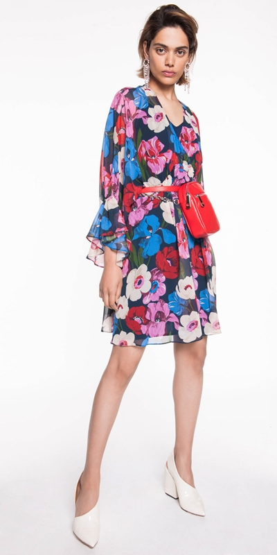 Made in Australia  | Bright Poppy Georgette Dress