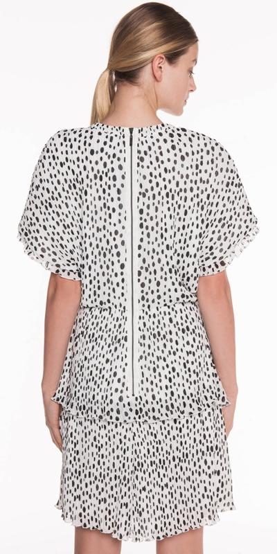 Dresses | Pleated Spot Georgette Dress