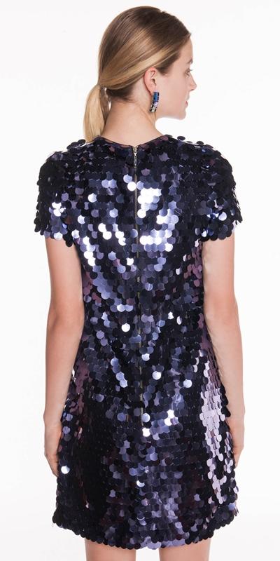 Dresses | Purple Paillette Shift Dress