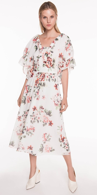 Dresses | Watercolour Rose Midi Dress