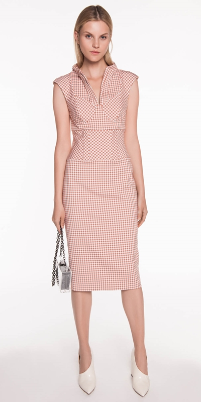 Dresses | Gingham Pencil Dress