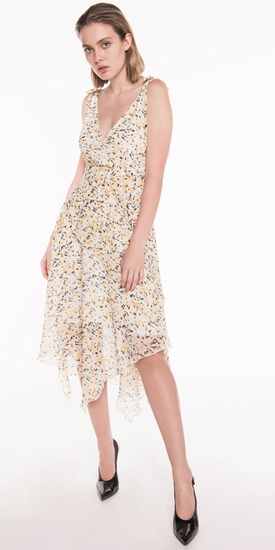 Dresses | Abstract Animal Georgette Dress