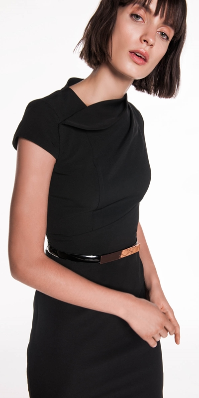 Sale  | Draped Neck Pencil Dress