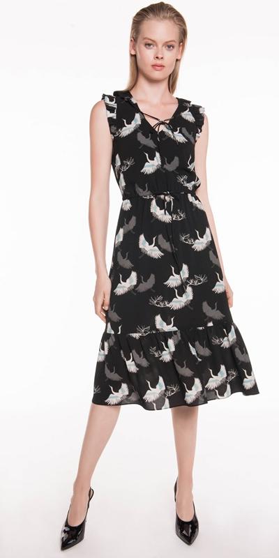Sale | Crane Georgette Midi Dress