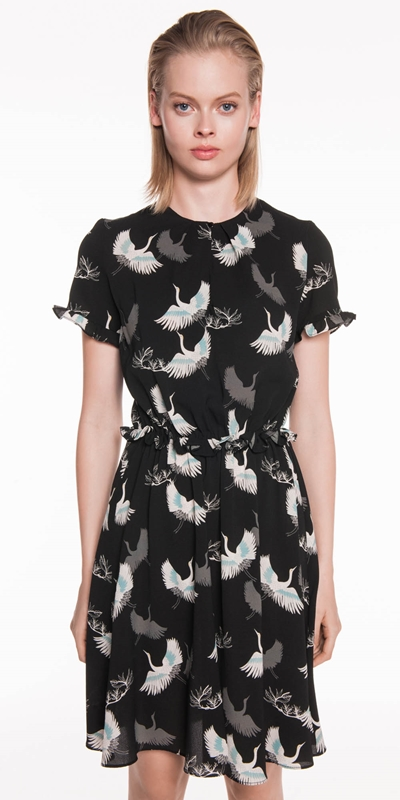 Dresses  | Crane Georgette Frilled Back Dress