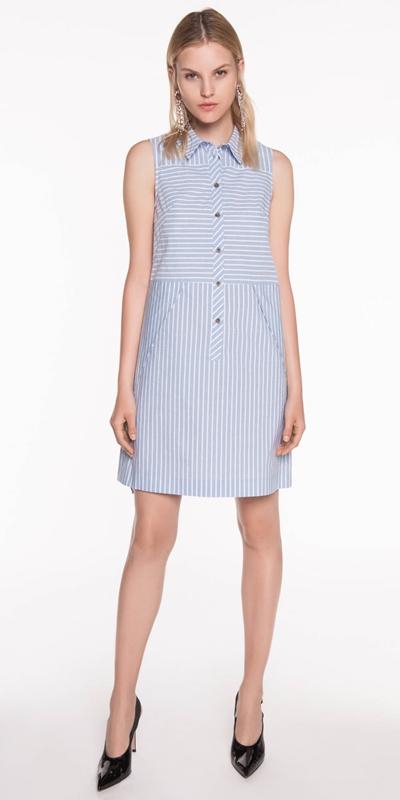 Sale | Striped Cotton Shirt Dress