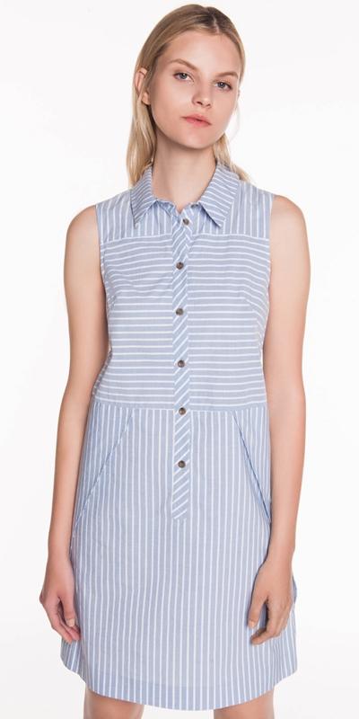 Dresses  | Striped Cotton Shirt Dress