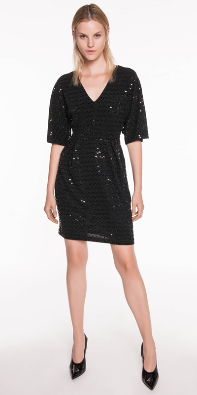 Sale  | Sequin Kimono Sleeve Dress