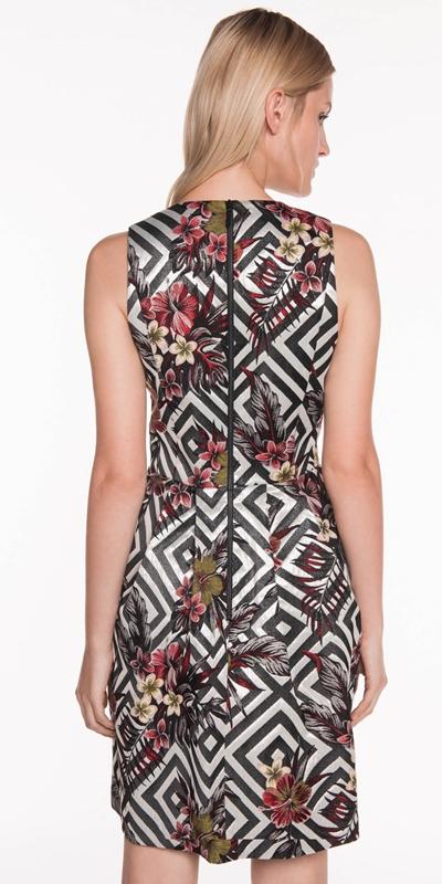 Dresses | Tropical Diamond Jacquard Dress
