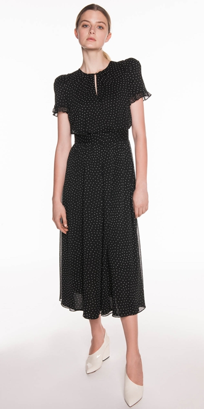 Made in Australia | Mini Spot Georgette Midi Dress