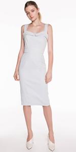 Dresses | Textured Cotton Pencil Dress