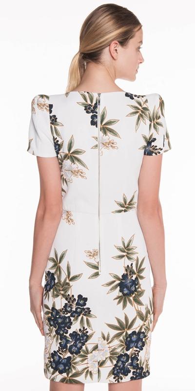 Dresses | Kimono Floral Crepe Dress