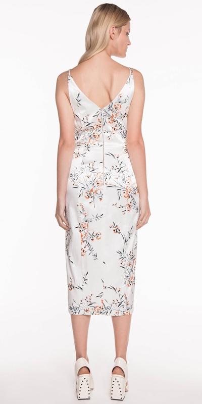 Dresses | Oriental Satin Pencil Dress