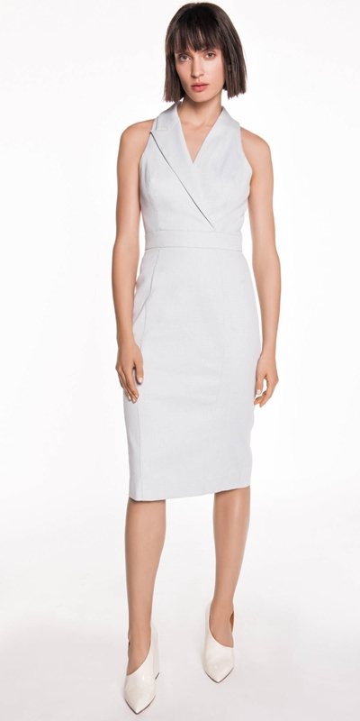 Dresses | Textured Cotton Asymmetric Dress