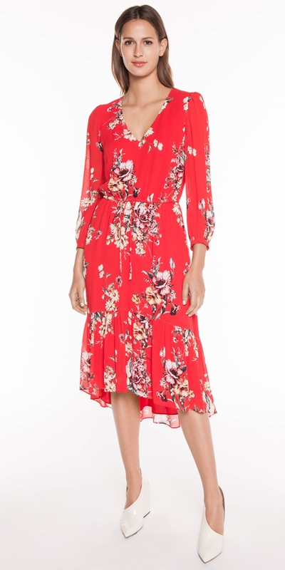 Sale | Painted Floral Blouson Dress