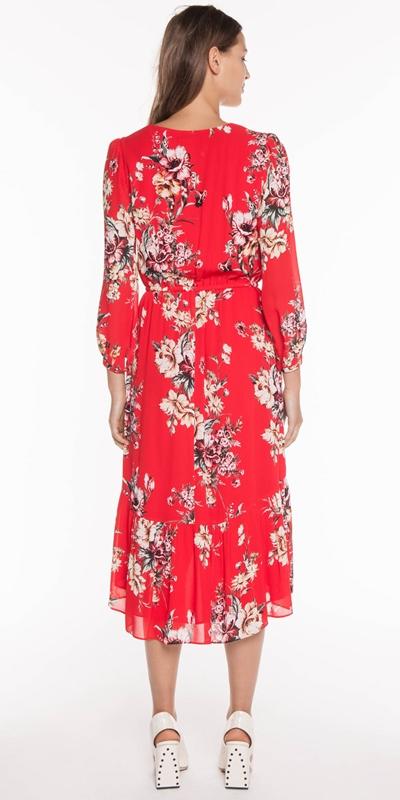 Dresses   Painted Floral Blouson Dress
