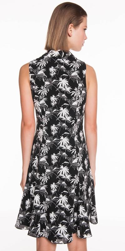 Dresses | Tropical Palm Button Front Dress