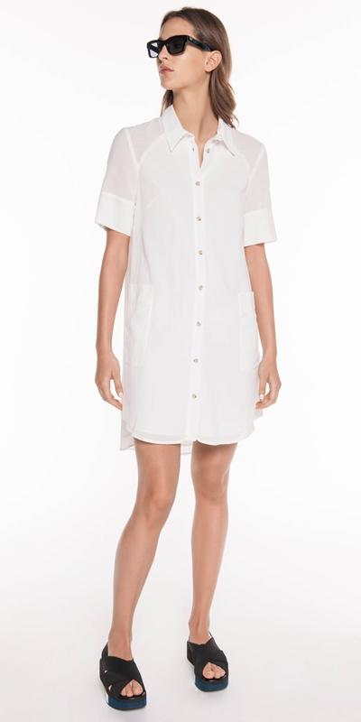 Sale | Cotton Voile Shirt Dress