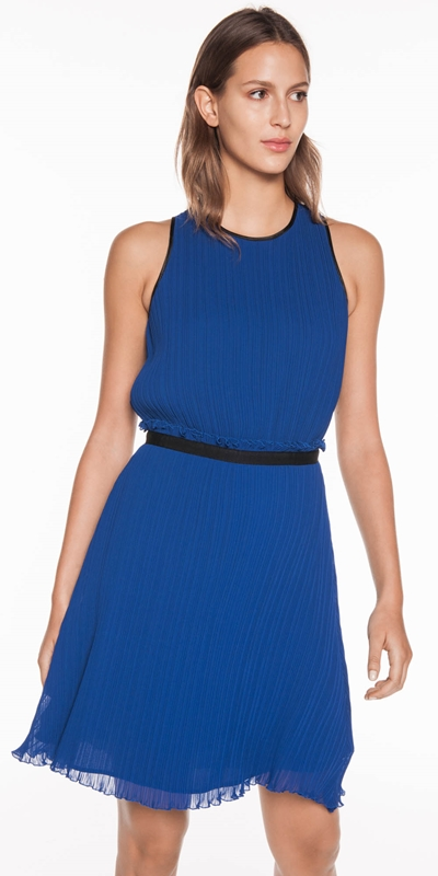 Dresses | Cobalt Pleated Dress