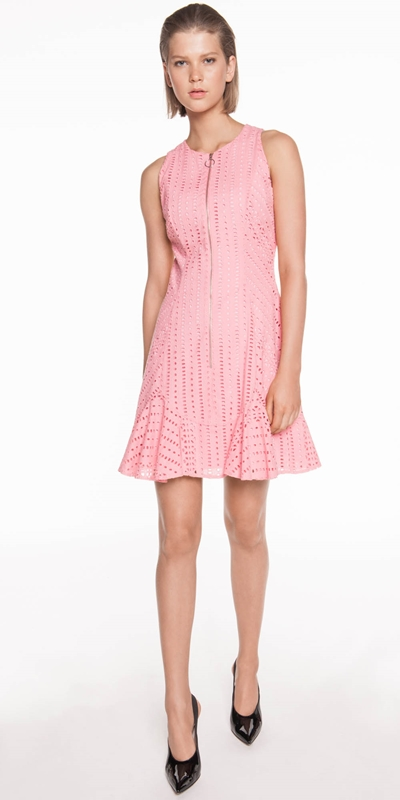 Made in Australia | Broderie Zip Front Dress