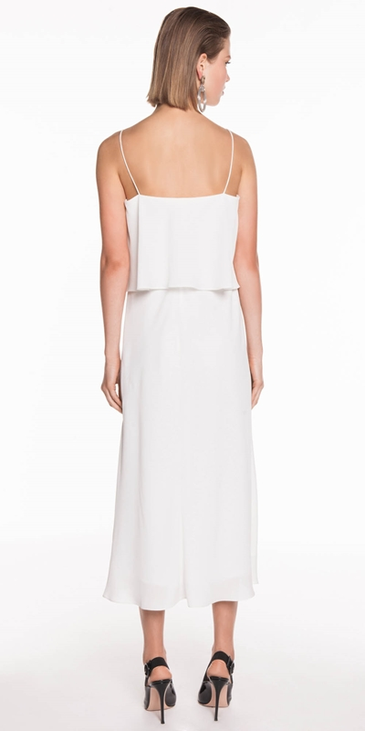 Dresses   Textured Georgette Midi Dress