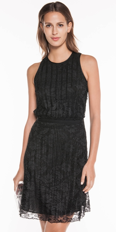 Made in Australia | Pleated Lace Dress