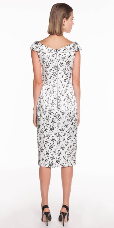 Dresses   Floral Satin Pencil Dress