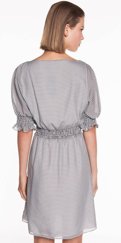 Dresses | Mini Gingham Shirred Dress