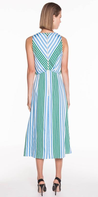 Dresses | Bold Stripe Midi Dress