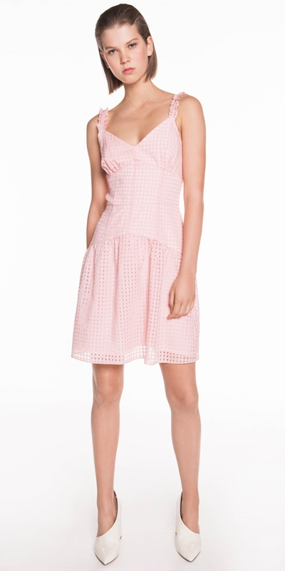 Made in Australia  | Sheer Check Organza Dress