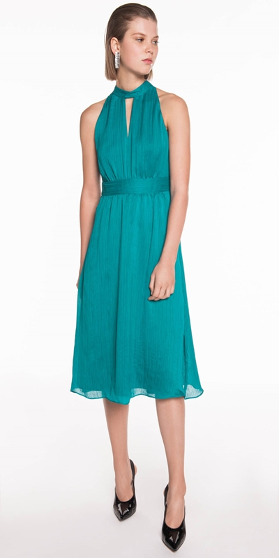 Made in Australia | Chiffon Pleat Midi Dress