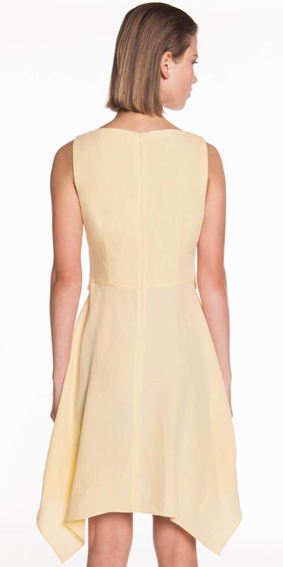 Dresses | Linen Blend Buckled Waist Dress