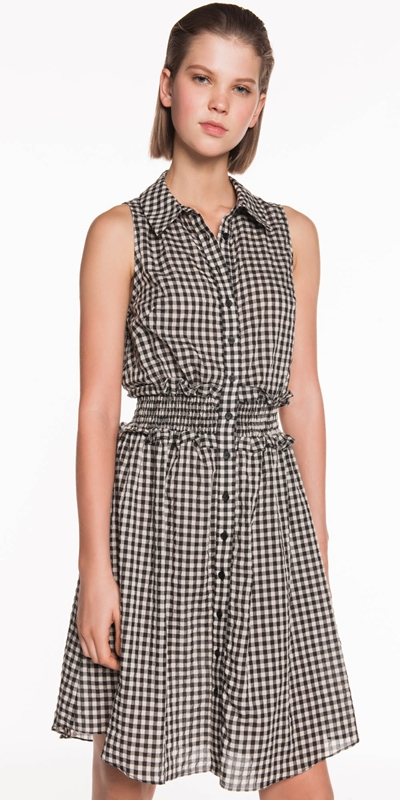 Made in Australia  | Gingham Voile Shirt Dress