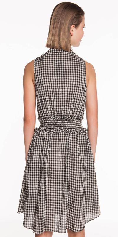 Dresses | Gingham Voile Shirt Dress