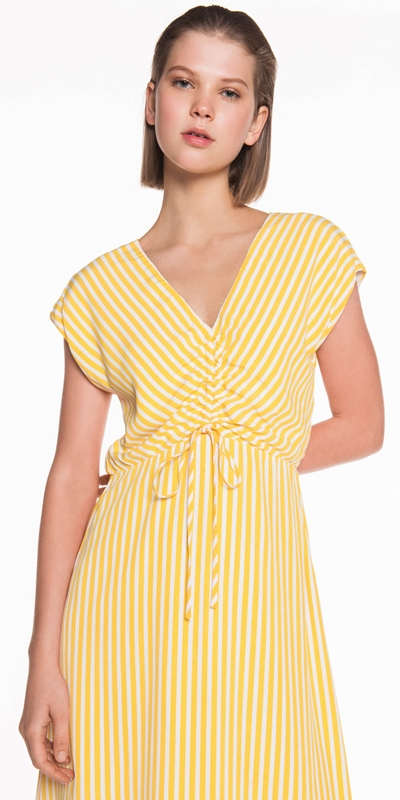 Sale  | Yellow Stripe Midi Dress