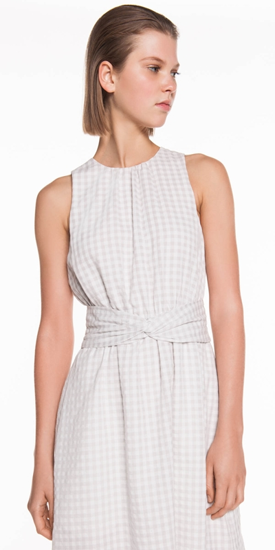Made in Australia  | Soft Gingham Midi Dress